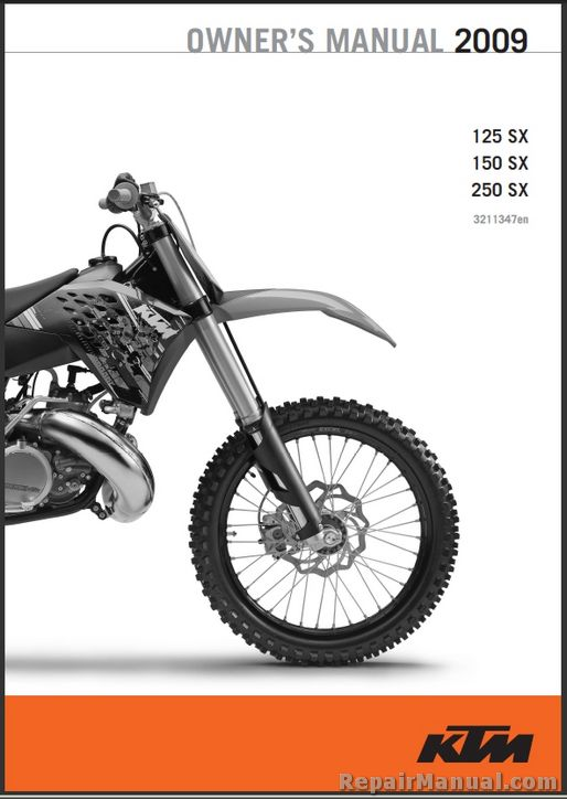 ktm    sx motorcycle owners manual