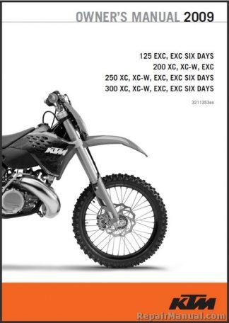 2009 KTM 125 200 250 300 XC XC-W EXC Owners Manual