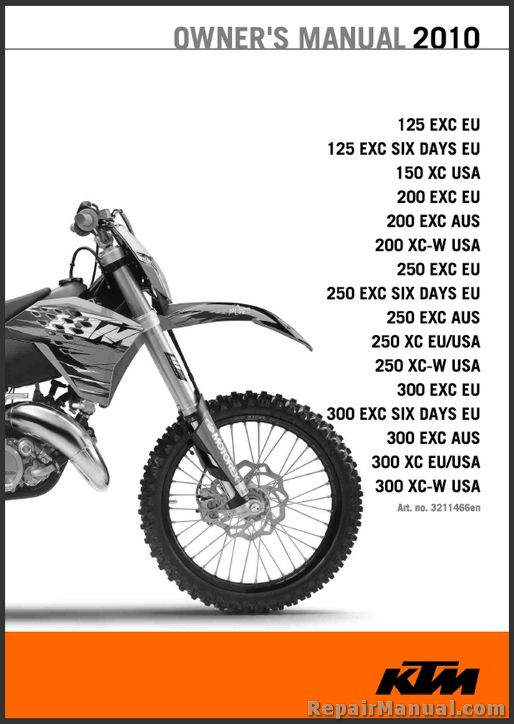 Ktm  Xc Atv Owners Manual