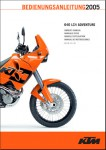 Official 2003-2005 KTM 640 LC4 Adventure Owners Handbook