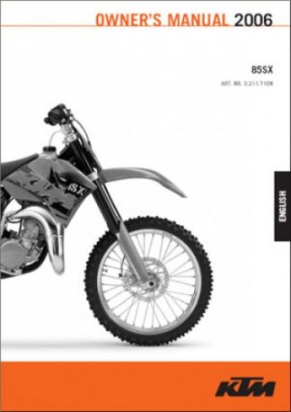 Service & Repair Manuals Automotive 2008 KTM 65SX 65XC Motorcycle ...