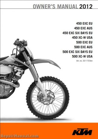2012 KTM 450 EXC XC-W 500 EXC XC-W Motorcycle Owners Manual