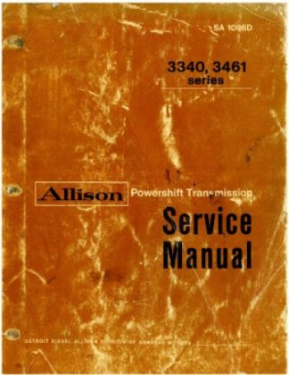 Allison Powershift Transmission 3340 3461 Series Service Manual