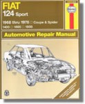 Haynes Fiat 124 Sport Coupe Spider 1968-1978 Auto Repair Manual