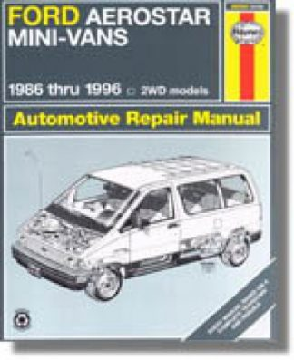 Used Haynes Ford Aerostar Mini-Vans 1986-1988 Auto Repair Manual