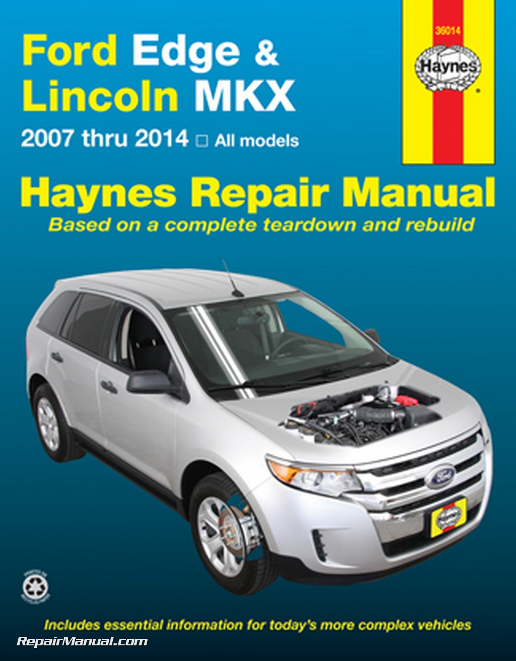 ford edge lincoln mkx haynes repair manual 2007 2014 rh repairmanual com Haynes Manuals UK Haynes Manual Monte Carlo Back