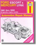 Haynes Ford Escort Mercury Lynx 1981-1990 Auto Repair Manual