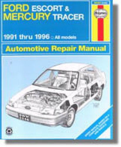 Used Haynes Ford Escort Mercury Tracer 1991 1996 Auto border=