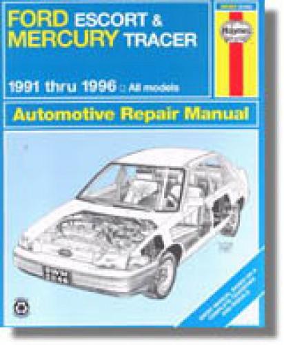 Used Haynes Ford Escort Mercury Tracer 1991-2000 Auto Repair Manual