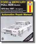 Haynes Ford Mercury Full Size 1975-1987 Auto Repair Manual