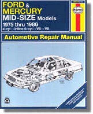 Used Haynes Ford Mercury Mid-Size 1975-1986 Auto Repair Manual