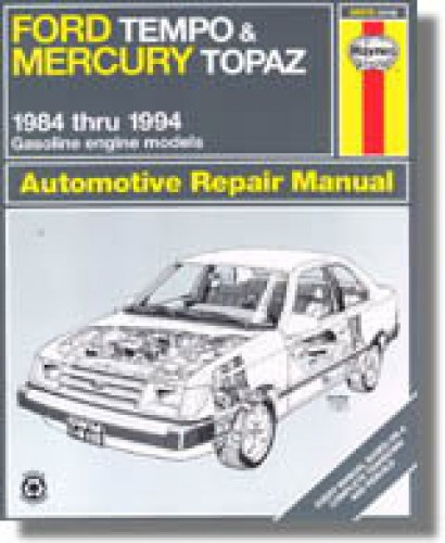 haynes ford tempo mercury topaz 1984 1994 auto repair manual rh repairmanual com ford topaz 1993 manual ford topaz 1992 manual