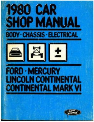 Body Chassis Electircal Shop Manual 1980 Used