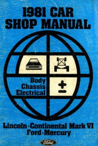 Body Chassis Electircal Shop Manual 1981 Used