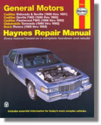 haynes gm cadillac eldorado seville deville buick riviera oldsmobile rh repairmanual com 1998 buick regal repair manual free 1998 buick regal service manual