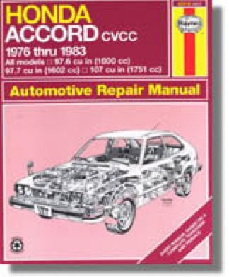Haynes Honda Accord CVCC 1976-1983 Auto Repair Manual