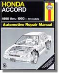 Haynes Honda Accord 1990-1993 Repair Service Maintenance Manual