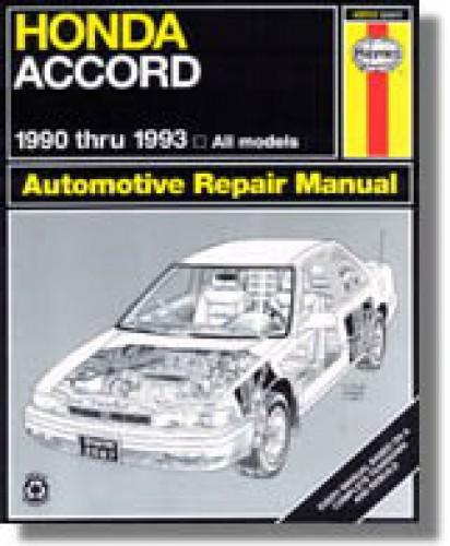 haynes honda accord 1990 1993 repair service maintenance manual rh repairmanual com 1993 honda accord service manual 1993 honda accord ex repair manual