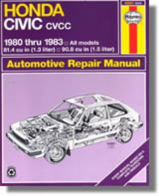 Haynes Honda Civic 1300 and 1500 CVCC 1980-1983 Auto Repair Manual