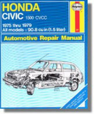 Haynes Honda Civic 1500 and CVCC 1975-1979 Auto Repair Manual