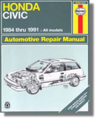 haynes honda civic and crx 1984 1991 auto repair manual rh repairmanual com 1991 Honda CRX Si MPG 1987 Honda CRX Si