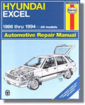 Haynes Hyundai Excel Accent 1986-1994 Auto Repair Manual