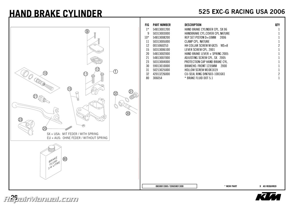 2005 ktm 125 sx parts diagram