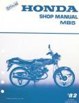 1981-1982 Honda MB5 Moped Factory Service Manual
