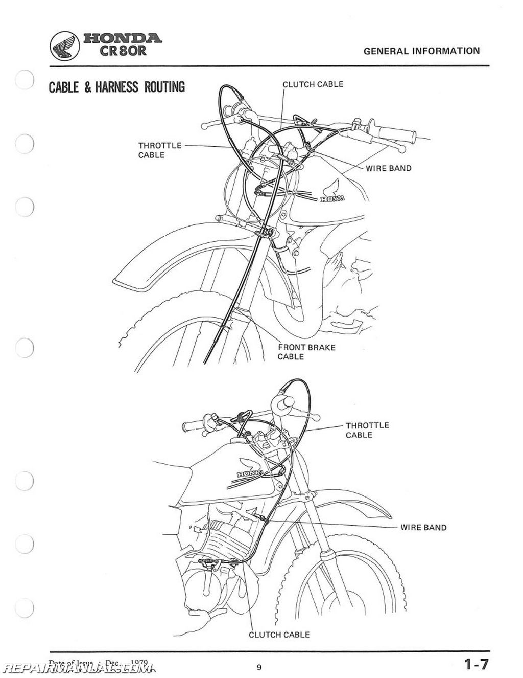 1980 1981 1982 honda cr80r motorcycle service manual