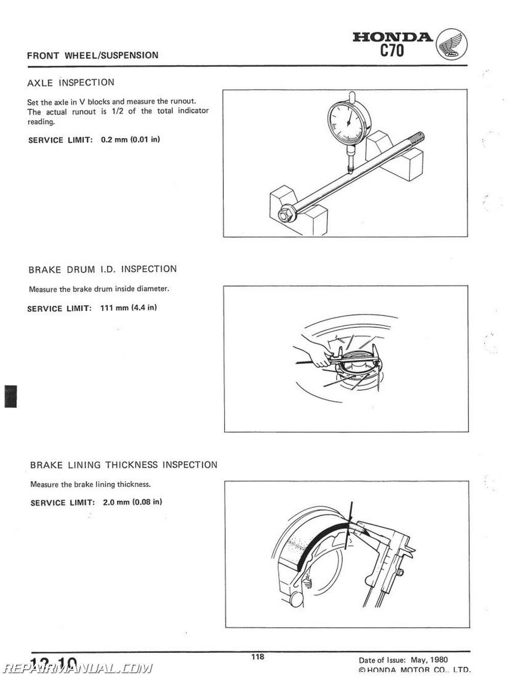 1980 1982 honda c70 scooter workshop service repair manual rh repairmanual com honda ct70 repair manual honda ct70 repair manual free