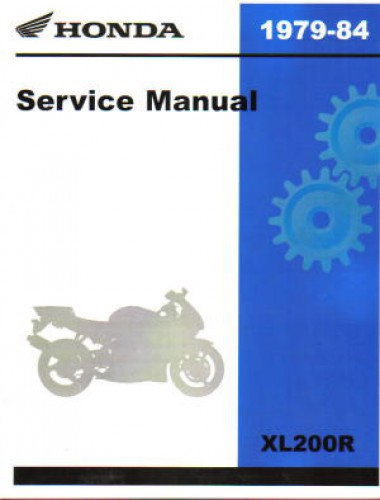 1979 1984 honda xl200r xl185s xl125s motorcycle service manual. Black Bedroom Furniture Sets. Home Design Ideas