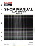 Official Honda HT3810 Lawn Tractor Shop Manual