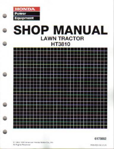 Honda Ht3810 Lawn Tractor Shop Manual
