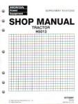 Official Honda H5013 Lawn Tractor Shop Manual