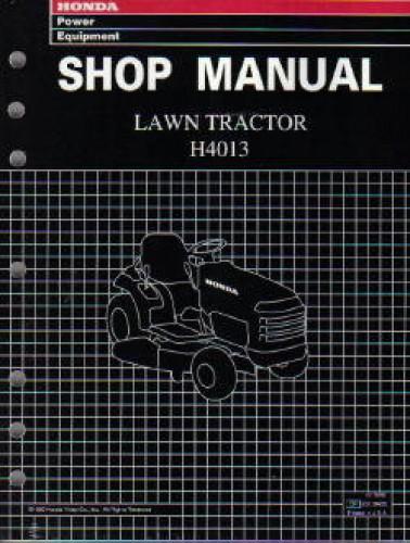 Official Honda H4013 Lawn Tractor Shop Manual