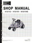 Official Honda H1011S H1011R H1011HS Riding Mower Shop Manual