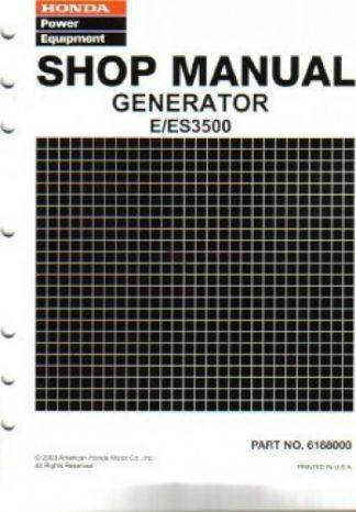 Official Honda E3500 And ES3500 Generator Shop Manual