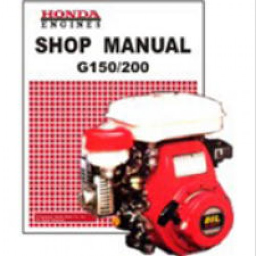 honda g150 and g200 engine shop manual rh repairmanual com Honda G200 Carburetor Honda G200 Parts Breakdown