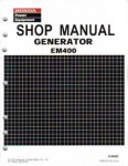 Official Honda EM400 Generator Shop Manual