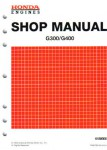 Official Honda G300 And G400 Engine Shop Manual