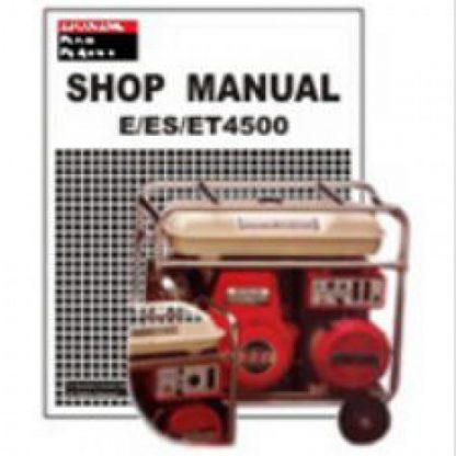 Official Honda E ES ET4500 Generator Shop Manual