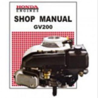 Official Honda GV200 Engine Factory Shop Manual