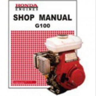 Official Honda G100K0 Engine Factory Shop Manual