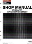 Official Honda EM1600 EM1800 And EM2200 Generator Shop Manual