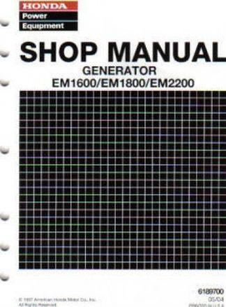 Official Honda EM1600 EM1800 And EM2200 Generator Shop Manual