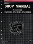 Official Honda EM3000 EM4000 EMS4000 And EMS4500 Generator Shop Manual