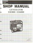 Official Honda EB3000 And EB4000 Generator Shop Manual