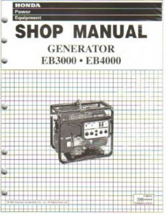 Official Honda EB3000 And EB4000 Generator Shop Manual