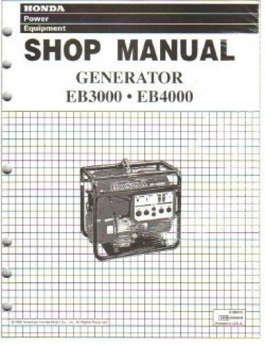 honda eb3000 and eb4000 generator shop manual rh repairmanual com Honda EB3000 Specs Honda EB3000 Specs