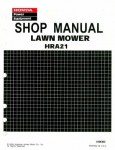 Official Honda HRA21 Lawn Mower Shop Manual